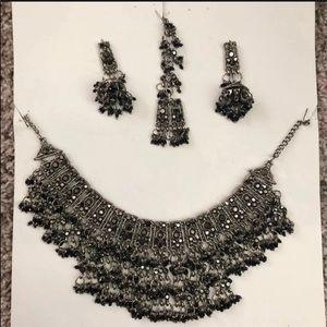 Jewelry - Indian Pakistani Punjabi bohemian necklace set